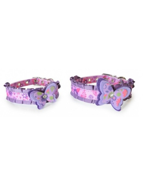 Nylon collar with butterfly