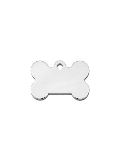 Small Chrome Bone ID Tag