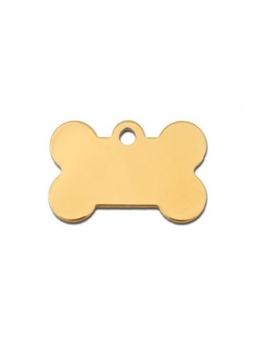 Small Gold  Bone ID Tag