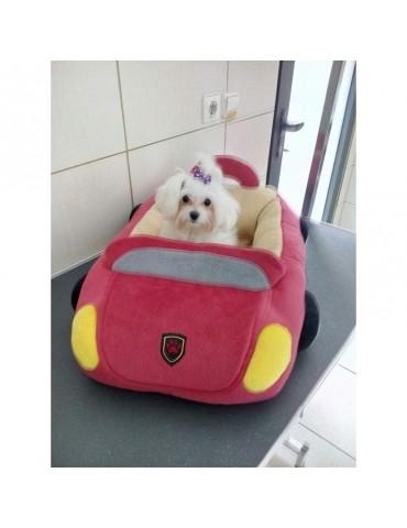 Car-shaped dog bed