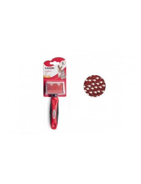 Slicker brush with stainless steel plastic coated pins