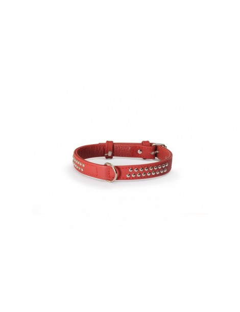 Red Collar with Studs