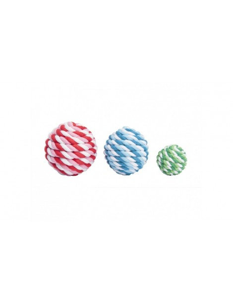 Braided ball with rattle
