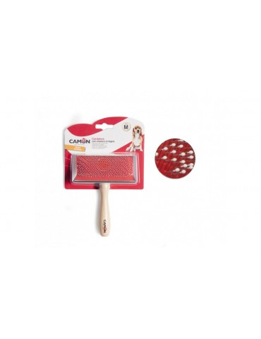 Slicker Brush with Wooden Handle M