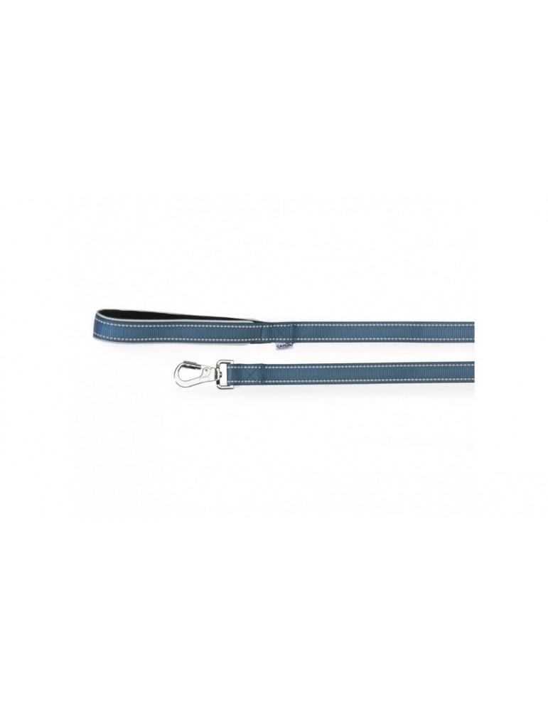 Reflective leash with neoprene handle
