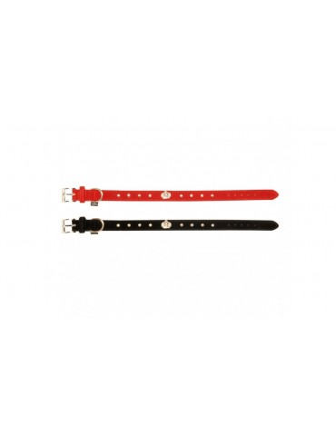 Velvet collar with rhinestone decoration