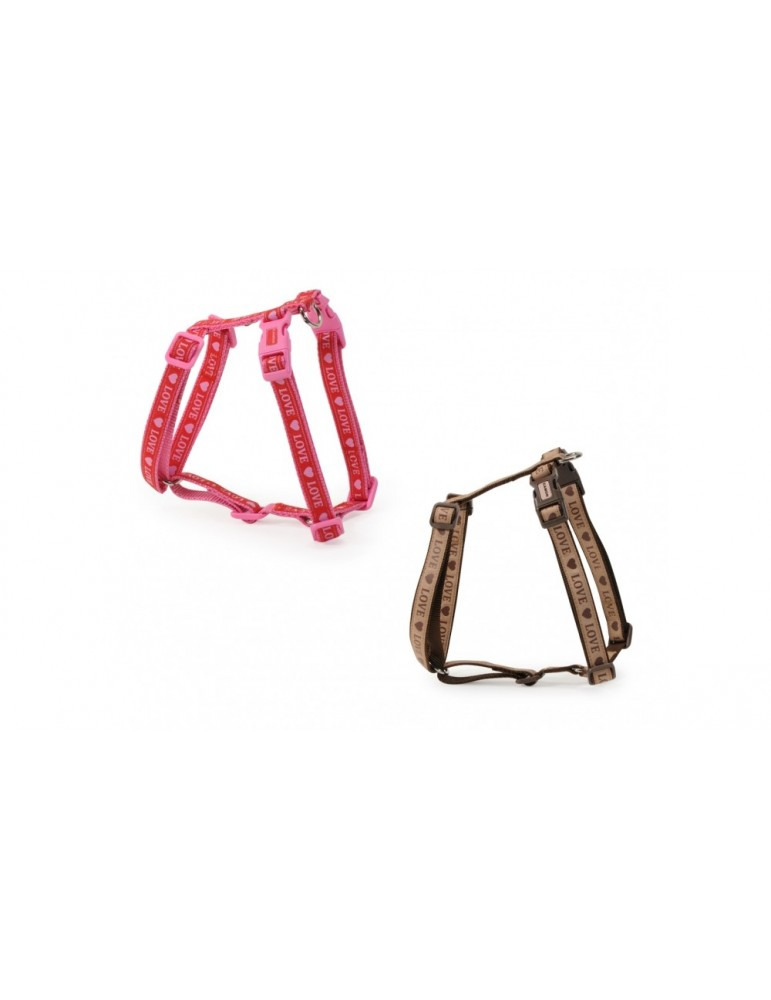 """""""Love"""" harness with double buckle"""