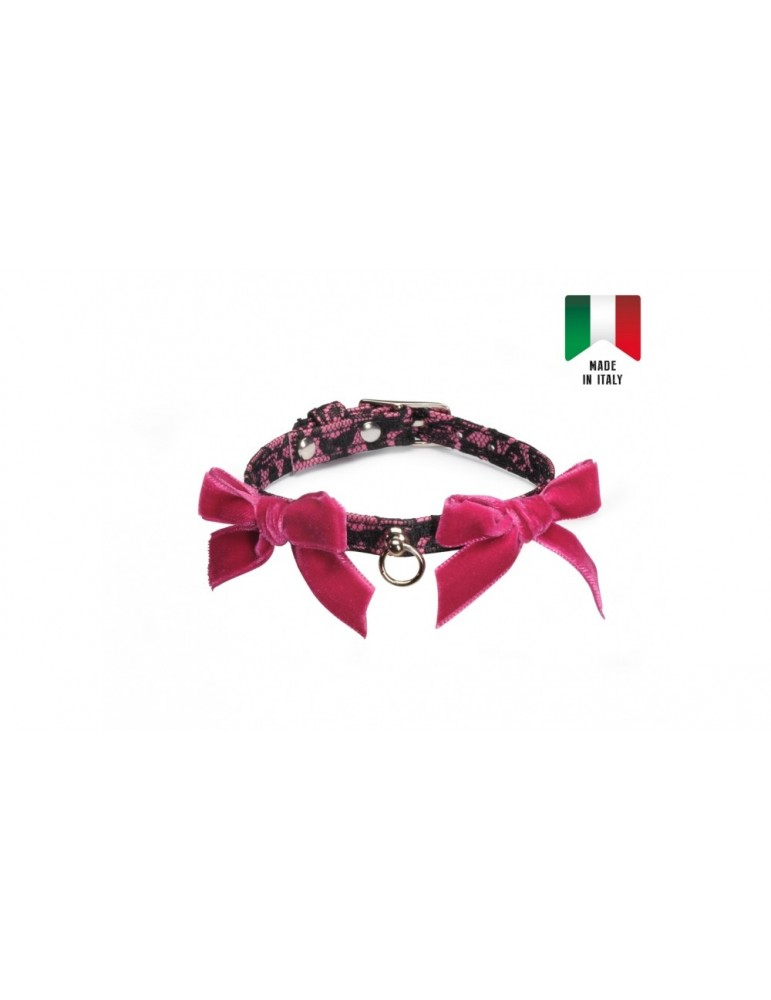 Dog collar with leash - parure
