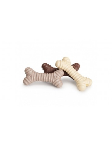 Spiral-shaped rubber bone