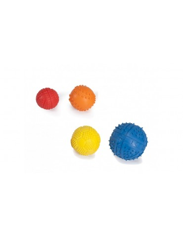 Rubber sports balls with squeaker