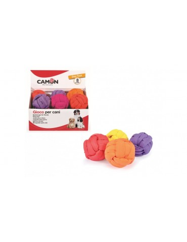 Braided ball for dogs