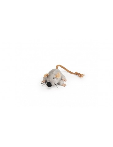 Plush mouse with rope tail