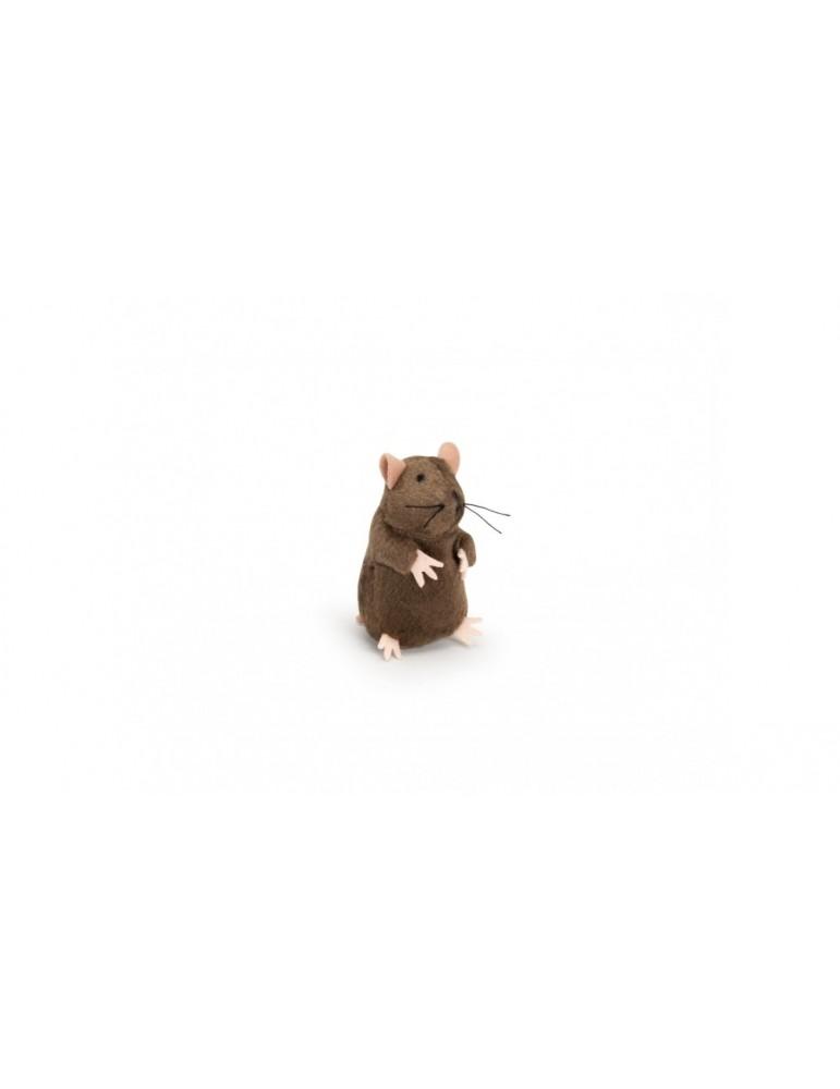 Plush mole with microchip