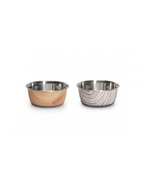 """""""Durapet Selecta Cubic Printing"""" steel bowl"""