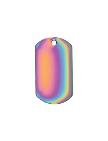 Large Rainbow Military Tag