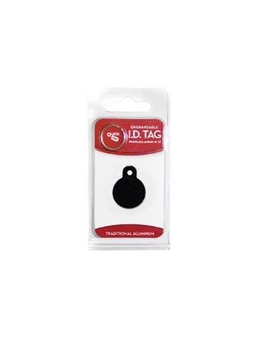 Small Black Circle ID Tag