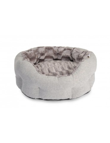 """Mountain Jet Set"" Grey Pet Bed"