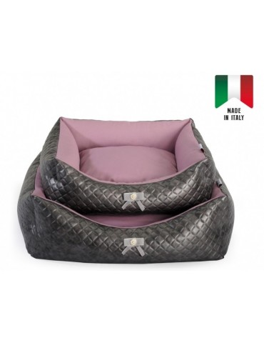 "Rectangular pet bed ""Chic Bow"""