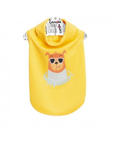 Yellow Summer Dog T-Shirt