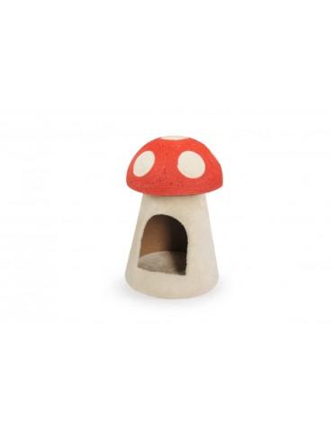 Mushroom scratching post...