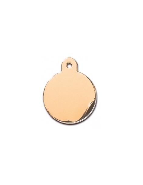 Large Gold Circle ID Tag