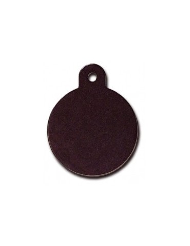 Large Black Circle ID Tag