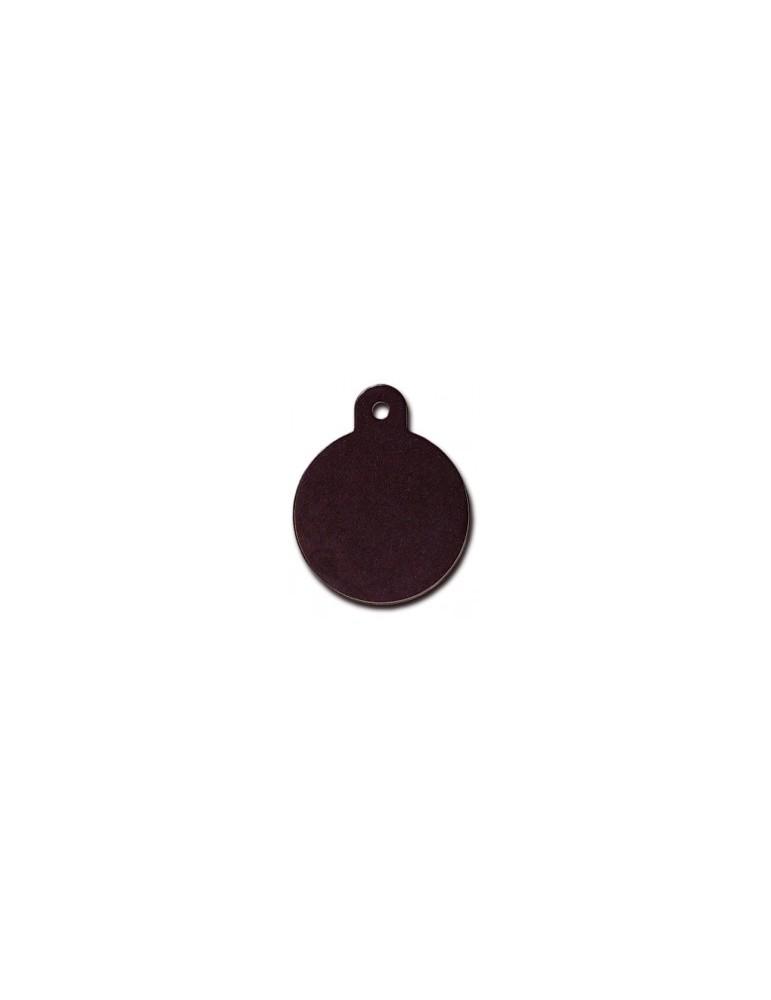 Large Black Circle ID Tag
