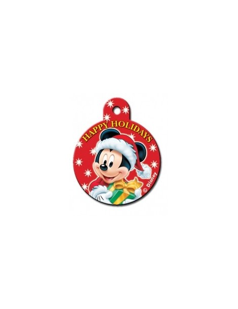Large Circle ID Tag with Mickey & Gifts