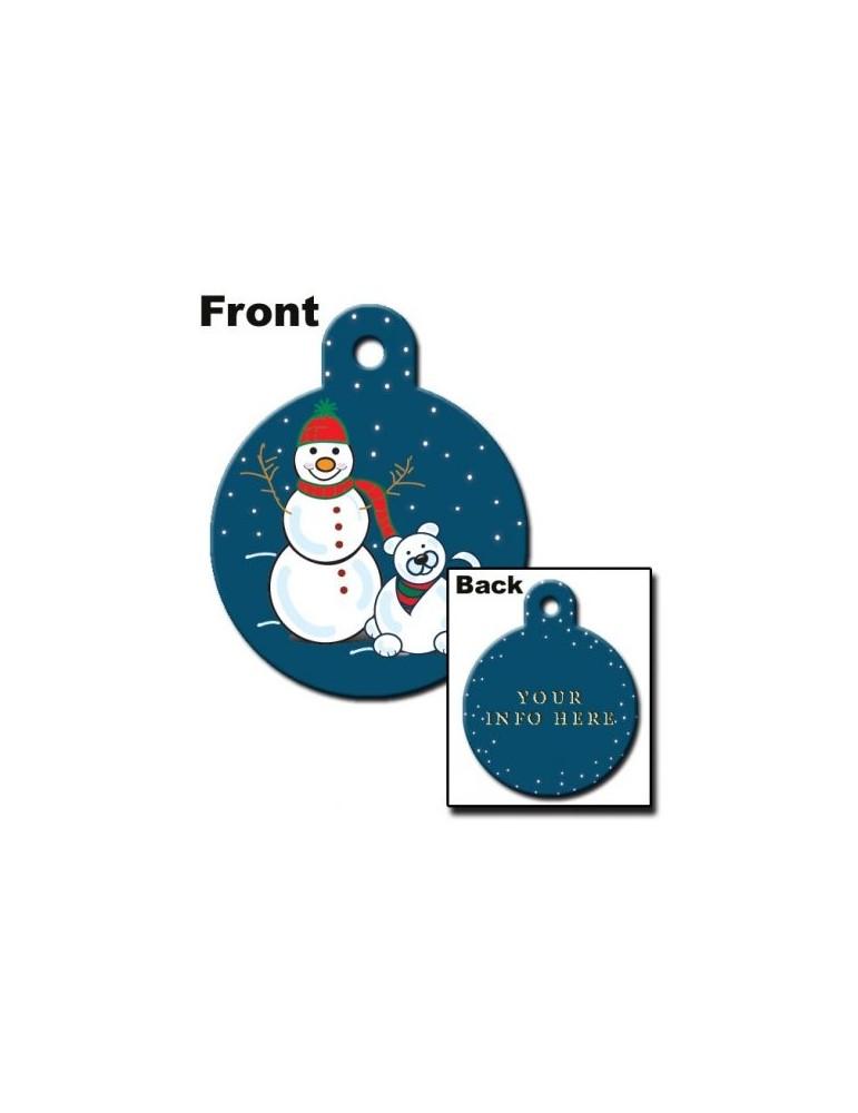 Ταυτότητα κύκλος  με χιονάνθρωπο