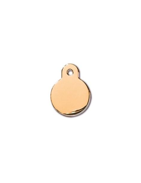Small Gold Circle ID Tag