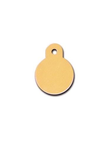Small Mustard Circle ID Tag