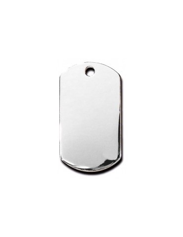 Large Chrome Military  ID Tag
