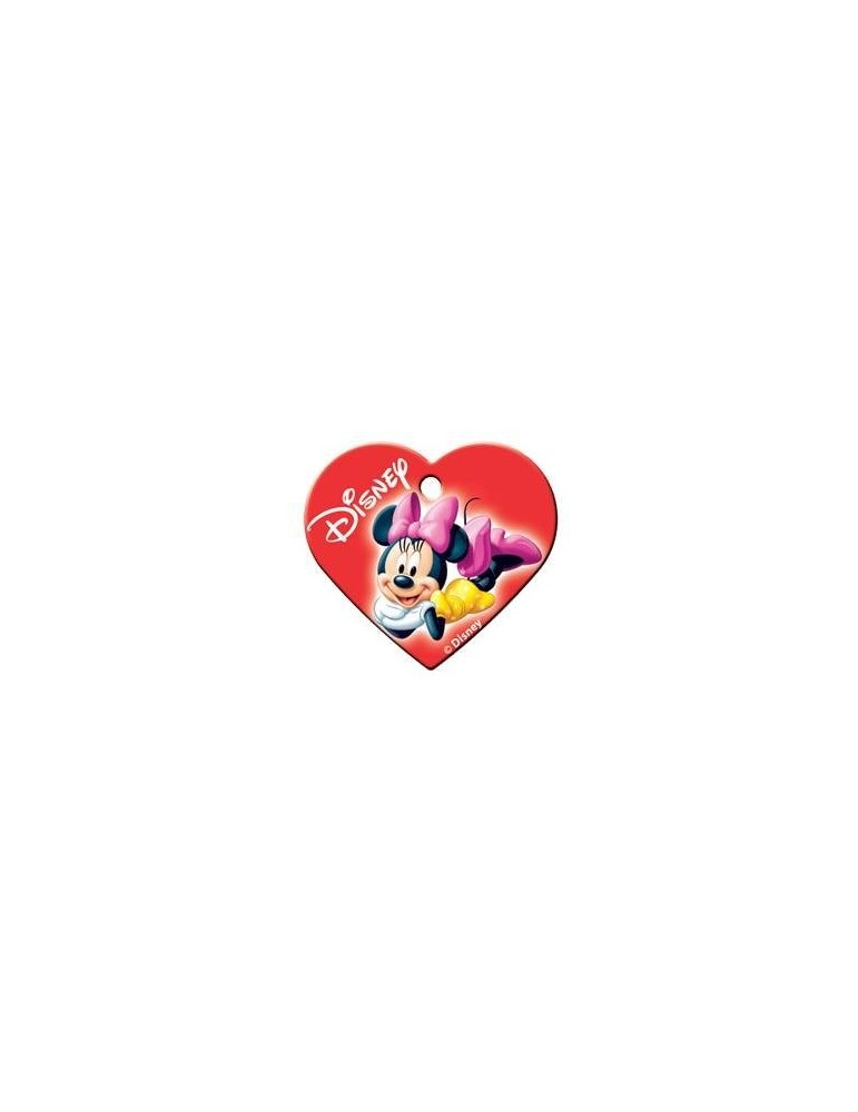 Heart ID Tag Minnie Red Large