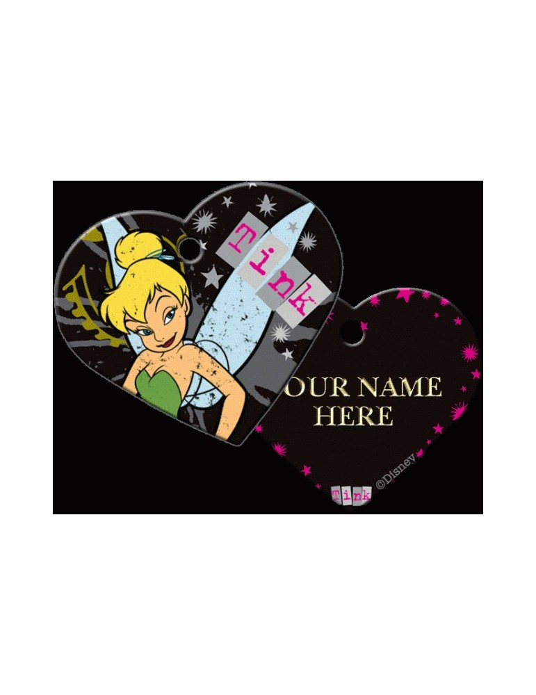 Heart ID Tag Large Tinkerbell