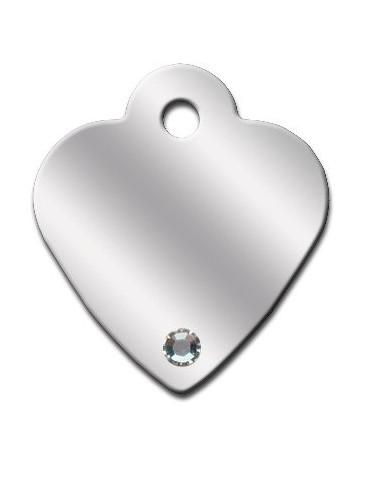 Ταυτότητα καρδιά μικρή με Aurora πέτρες