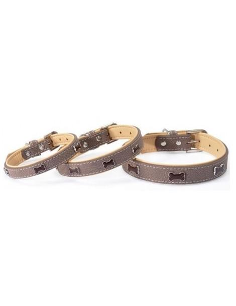 """""""Timber"""" brown collar 15 x 380 mm"""