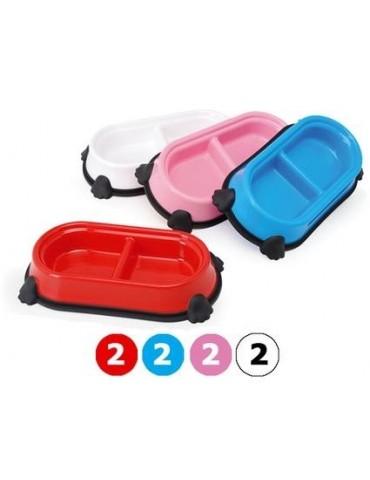 Double Colourful Plastic  Bowl