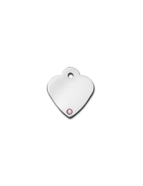 Heart ID Tag Small with Alexandrite Stone - June